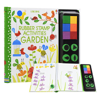 Usborne 原版英文 Rubber Stamp Activities Garden 秘密花园 儿童创意DIY彩色印