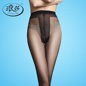 5双浪莎丝袜 超薄T裆防勾丝连裤袜 夏季性感黑丝袜打底袜子女