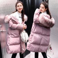 黛熊 大码孕妇棉衣冬韩版孕妇装中长款羽绒加厚大毛领棉袄B-18005