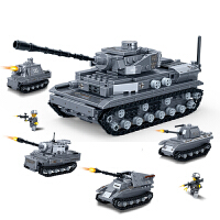 拼装玩具男孩智力开发益智玩具高难度坦克模型