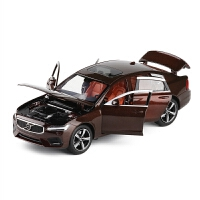 沃尔沃S90轿车1/32合金车模避震转向全开门金属模型玩具摆设