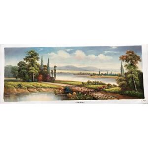 风景油画作品 70X180-114
