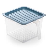 厨房冰箱食物收纳盒保鲜食品收纳盒冰箱鸡蛋盒食品级带把手储物盒
