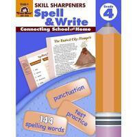 【现货】英文原版 Skill Sharpeners Spell & Write Grade 4 拼写练习4年级