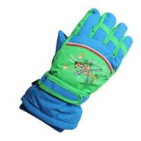 冬季儿童滑雪手套 男童款滑雪手套卡通户外保暖防寒大童手套