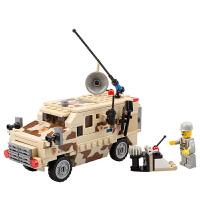 开智 积木 军事野战部队多款拼装拼插塑料男孩女孩6岁以上礼物亲子互动游戏拼搭儿童玩具用品