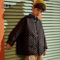【2件3折:98.7元】儿童棉衣中长款棉服外套小虎宝儿新款冬款棉衣外套