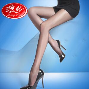 【3条装包邮】秋冬新品浪莎丝袜12D超薄天鹅绒V裆防勾丝连裤袜薄款美腿肉色瘦腿袜子女