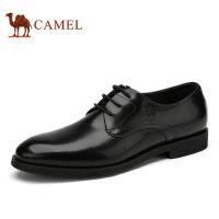 camel骆驼男鞋 夏季新品 商务正装皮鞋舒适系带皮鞋