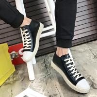 夏季英伦男士高帮鞋男鞋子韩版潮流中帮皮鞋休闲高邦板鞋百搭潮鞋夏季百搭鞋