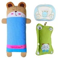婴儿枕头宝宝幼儿童加长卡通防偏头0-1--2-3-6岁定型枕荞麦