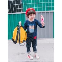 儿童印花打底衫秋季体恤男童T恤中小童休闲长袖