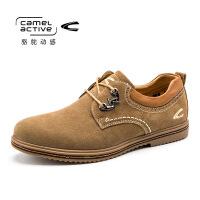 骆驼动感春秋男鞋日常休闲鞋透气舒适皮鞋