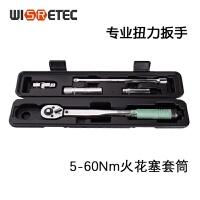 WISRETEC双刻度5-60Nm扭力扳手公斤力火花塞套筒预置式扭矩力矩套装 5件套 5-60Nm