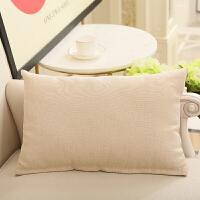 长方形抱枕靠垫套不含芯客厅沙发靠枕腰枕家用大号床头大靠背定做 50*70cm(抱枕套+棉芯)