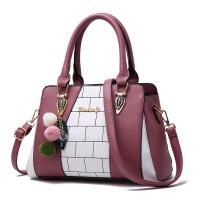 2018秋冬新款时尚潮流手提包时尚女式包欧美大包休闲单肩包 英华女包 橡皮红