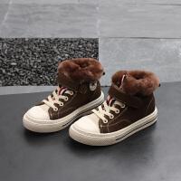 冬季儿童高帮板鞋男童女童运动鞋宝宝加绒棉鞋