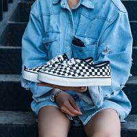 帆布鞋女黑色板鞋港味韩版学生ulzzang原宿智熏山本风鞋