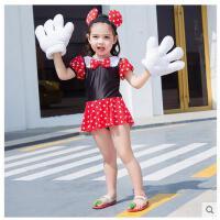儿童连体泳衣舒适女童韩国中小童可爱公主女孩