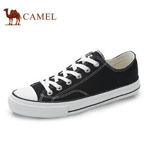 骆驼牌 男鞋 新品低帮系带休闲鞋时尚简约帆布鞋男鞋