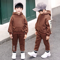童装男童冬装套装儿童运动男孩秋冬季卫衣两件帅气潮
