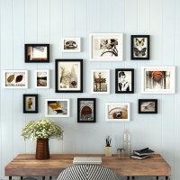 现代简约实木照片墙相框墙创意组合客厅卧室相片墙相框挂墙
