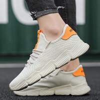 2019夏季透气网面鞋男士运动鞋的鞋子休闲百搭跑步鞋子男潮鞋韩版内增高男鞋