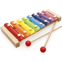 【满199减100】儿童木质手敲琴音乐玩具六一儿童节礼物