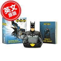 现货 蝙蝠侠 发声半身手办 插画书 英文原版 Batman: Talking Bust and Illustrated