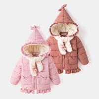 儿童棉服冬季保暖童装可爱连帽外套