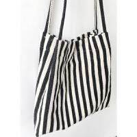 日系文艺小清新条纹帆布袋学院风女单肩帆布包手提购物袋 其他