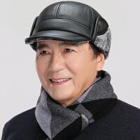 男中老年人秋冬天保暖护耳帽爸爸爷爷鸭舌帽老人棉帽