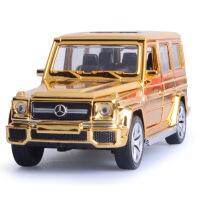 1:32奔驰G65越野喷镀土豪金合金车模型声光回力儿童玩具车