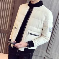 男士冬季外套韩版潮流冬装帅气修身外套男学生短款加厚棉袄男