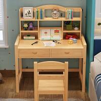 学习桌实木简约写字桌小学生家用书桌可升降桌椅套装