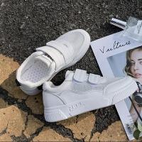 魔术贴小白鞋女帆布鞋韩版平底学生布鞋透气百搭板鞋单鞋潮低帮鞋