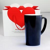 变色创意DIY陶瓷杯相片定制马克杯情侣一对杯子大容量喝水杯生日