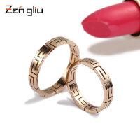 镀玫瑰金戒指镀18K彩金男女情侣对戒潮人食指尾戒指环钛钢首饰品