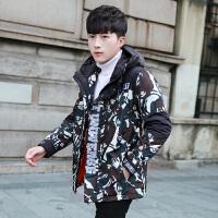 冬季加厚棉衣男士冬加厚连帽迷彩棉服学生男装棉衣男轻薄型短款外套