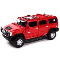 美致儿童玩具车悍马合金车模1 32礼物声光回力汽车模型仿真摆件