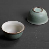 粗陶日式单杯功夫茶具品茗杯茶盏小杯子喝茶杯主人杯陶瓷复古家用