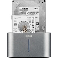 飚王(SSK)DK100移动硬盘盒底座2.5/3.5英寸USB3.0 SATA串口台式笔记本机械固态ssd外置盒 双盘