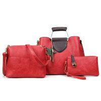 批发2018新款欧美时尚复古子母包3件套百搭大包手提包单肩斜挎包