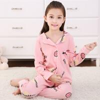 春秋季儿童女童纯棉睡衣长袖公主秋冬季中大童女孩宝宝家居服套装