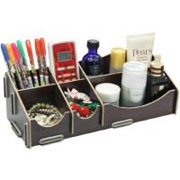 韩国版DIY杂物整理盒 桌面木质化妆品收纳盒多格收纳盒