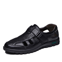 【头层牛皮】镂空凉皮鞋男士夏季透气软底防滑爸爸凉鞋