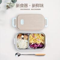 木纹不锈钢饭盒 学生午餐盒日韩式便当盒日用百货礼品和风便当盒学生上班族
