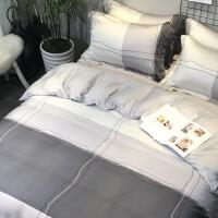 60支s天丝四件套天床上用品冰丝床单欧式裸睡丝滑 2.0m床(220*240cm被套)四件套 床笠