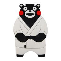 【正版授权】酷MA萌 熊本熊硅胶软胶冰箱贴创意卡通造型冰箱贴可爱创意家居装饰品立体磁贴 跆拳道赠举重熊本熊1个