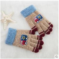 五指半指手套����小汽�卡通露指手套冬季新款�和�全指手套